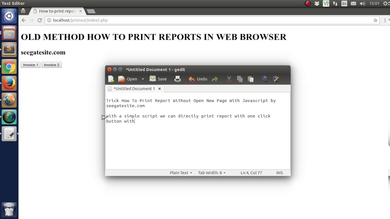 Trick How To Print Report Without Open New Tab Page With