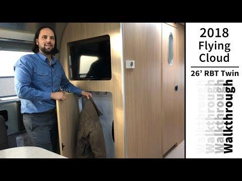 Walk Through 2018 Airstream Flying Cloud 26RBT Rear Bedroom Twin Travel Trailer