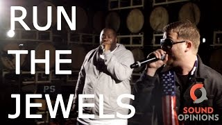 """Run The Jewels perform """"Close Your Eyes (And Count to Fuck)"""" (Live on Sound Opinions) [Explicit]"""