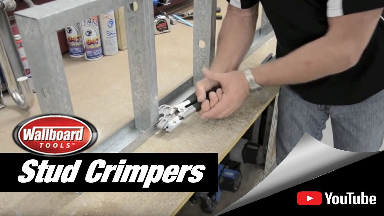 Using the Wallboard Tools Stud Crimpers - YouTube