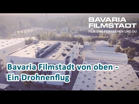 Drohnenflug - Bavaria Filmstadt von oben