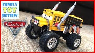 Disney Cars 3 Toys - DiY HOW TO MAKE Custom Miss Fritter Monster Truck School Bus Demolition Derby
