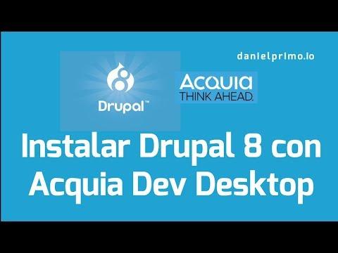 Instalar Drupal 8 con Acquia Dev Desktop (Windows y macOS) thumbnail
