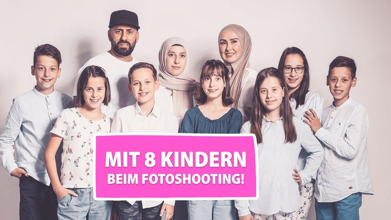Mit 8 Kindern beim Fotoshooting! | Berliner Sechslinge