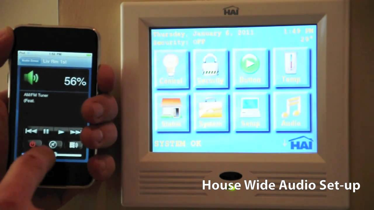Smart Home Automation Hai Roussound Ipod Iphone Ipad Control Basic Wiring Low Voltage Guys 2011
