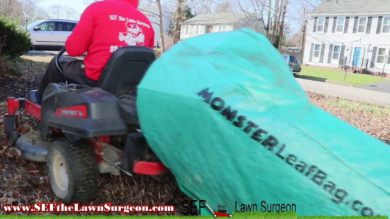The Monster Leaf Bag Is Back Cleaning Up Leaves You