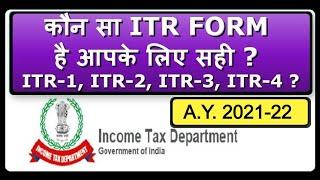 Which ITR form to file for AY 2019-20 / जानिए कौन सा ITR form है आपके लिए सही ?