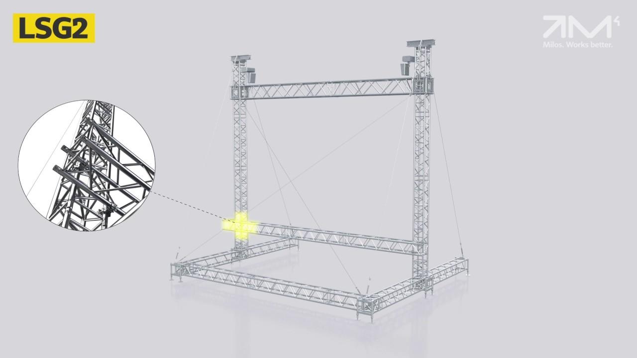 MILOS LED Screen Support Structures - Range