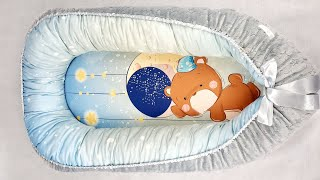Кокон Гнездышко для Новорожденных своими руками КАК ПОШИТЬ подробный МК / Babynest Diy