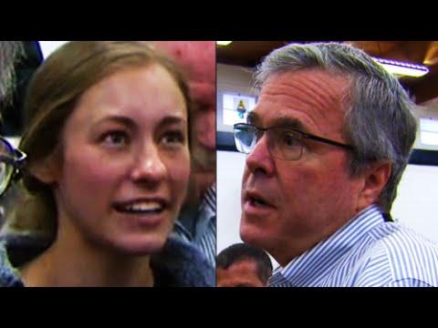 Jeb Bush Crushed BY College Student On Iraq War