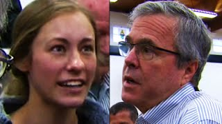 Jeb Bush Crushed BY College Student On Iraq War