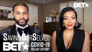 Devale And Khadeen Ellis Host The Saving Our Selves: BET COVID-19 Relief Effort After Show