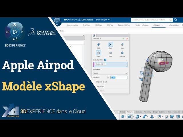 Apple Airpod - modélisation dans xShape