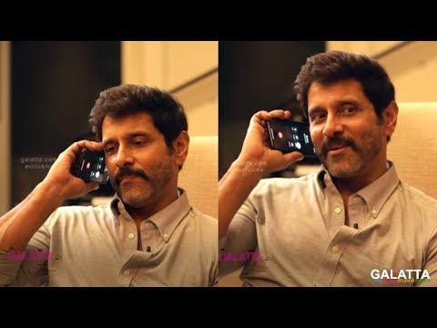 Chiyaan Vikram makes the cutest prank call ever! Check out who he calls- Galatta with Aruna