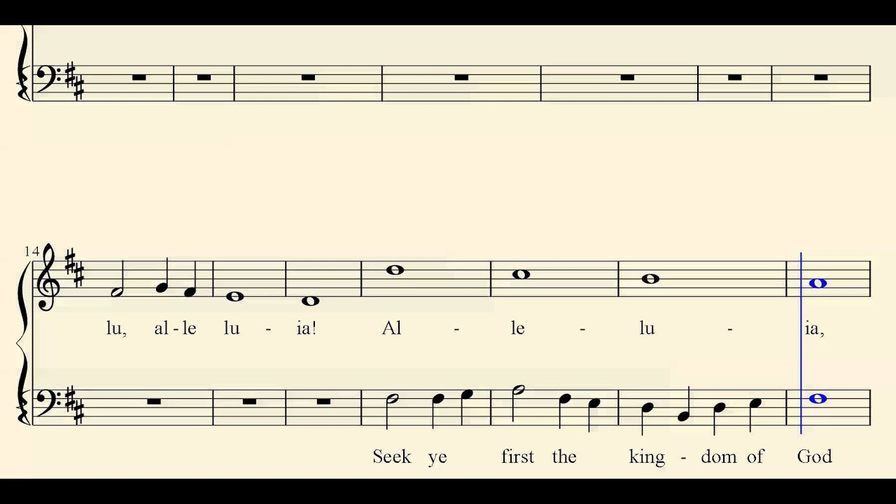 Seek Ye First - Church Song Gospel Hymn - MIDI Church Songs