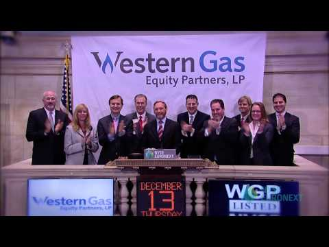 Western Gas Equity Partners Celebrates Recent IPO rings the NYSE Opening Bell