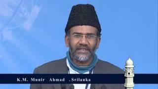 Jalsa Salana Qadian 2012 K.M Munir Ahmad Murabbi from Srilanka during his speech