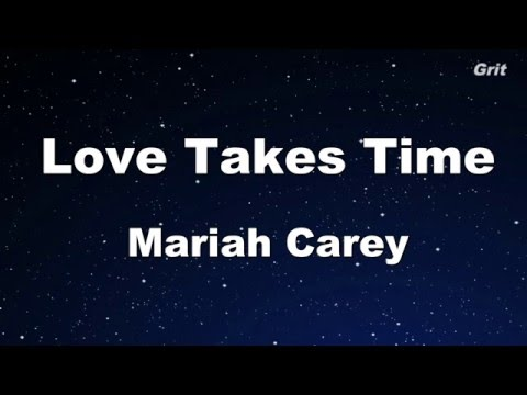 Love Takes Time - Mariah Carey Karaoke 【No Guide Melody】 Instrumental