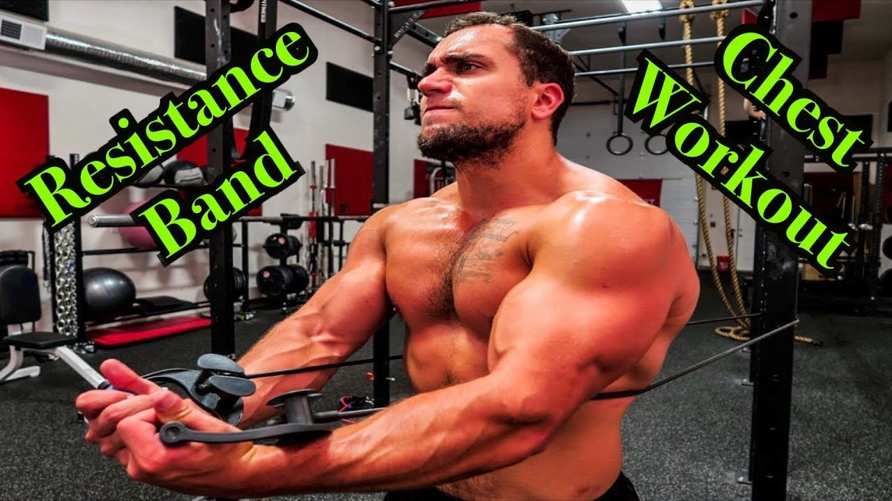 Intense 5 Minute Resistance Band Chest Workout