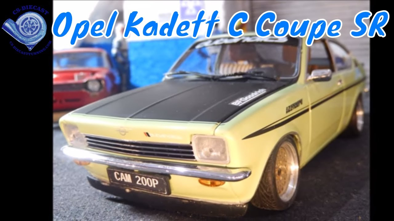 opel kadett c coupe sr modified tuning by 1 18 scale youtube. Black Bedroom Furniture Sets. Home Design Ideas