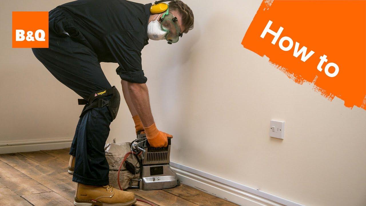 How To Sand Varnish Floorboards Part 1 Preparation Sanding