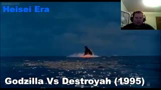 Evolution Of Godzilla 1954- 2017 Reaction