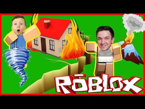Как ВЫЖИТЬ НА НЕОБИТАЕМОМ ОСТРОВЕ! Стихийные бедствия! Lets Play ROBLOX