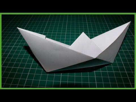 с бумага лодка можно сделать