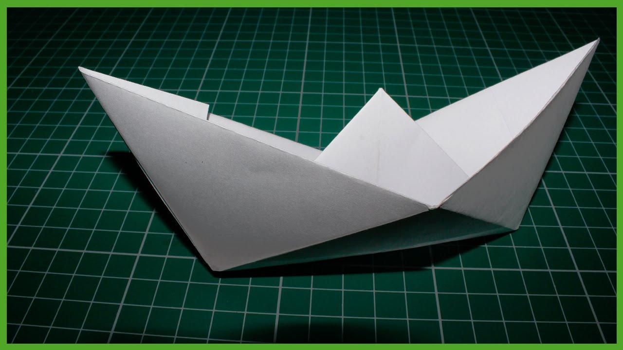 Как сделать бумажный кораблик видео фото 991
