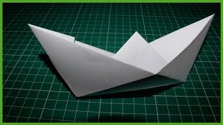 Как сделать бумажный кораблик (лодка)