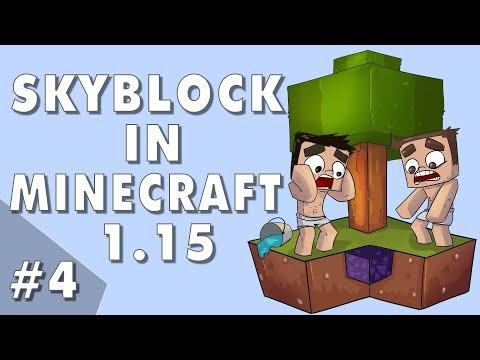 Curing Zombies! - Skyblock In Minecraft 1.15: Episode #4