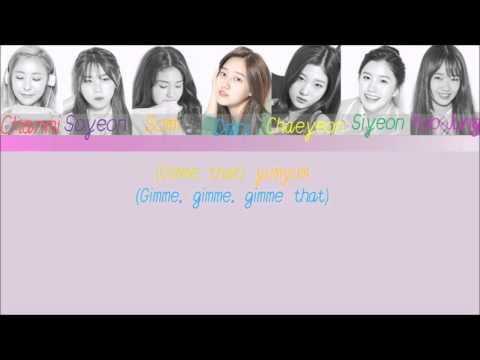 [PRODUCE 101] MACAROON HONEYDDUK (마카롱꿀떡) – YUM-YUM  (Color Coded Han Rom Lyrics)