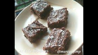 3-Ingredient No Bake Brownies: No Refined Sugar, Gluten Free