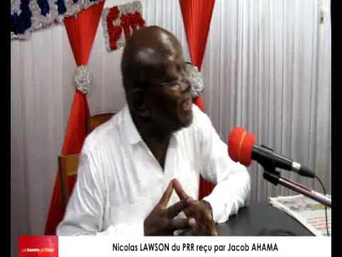 Nicolas LAWSON du PRR reçu par Jacob AHAMA sur radio Victoire Fm