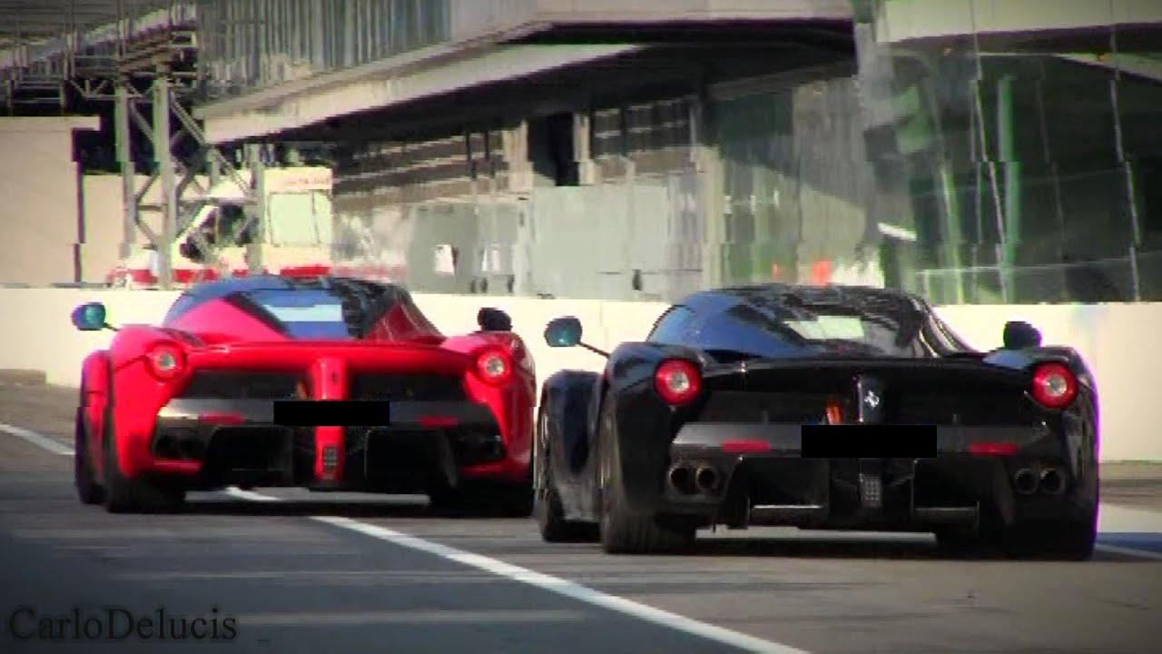 Free Classic Car Wallpaper Red Vs Black 2x Ferrari Laferrari Youtube