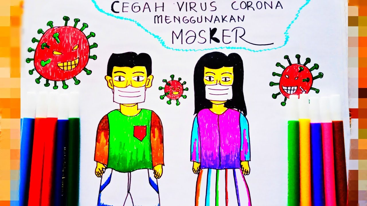 Cara Menggambar Pencegahan Virus Corona Dengan Pakai ...