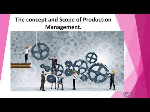 Scope of Production Management  – MBA TUTS