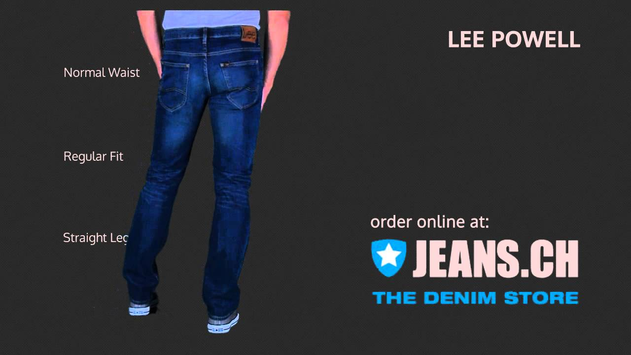 lee powell jeans fit video von jeans ch youtube. Black Bedroom Furniture Sets. Home Design Ideas