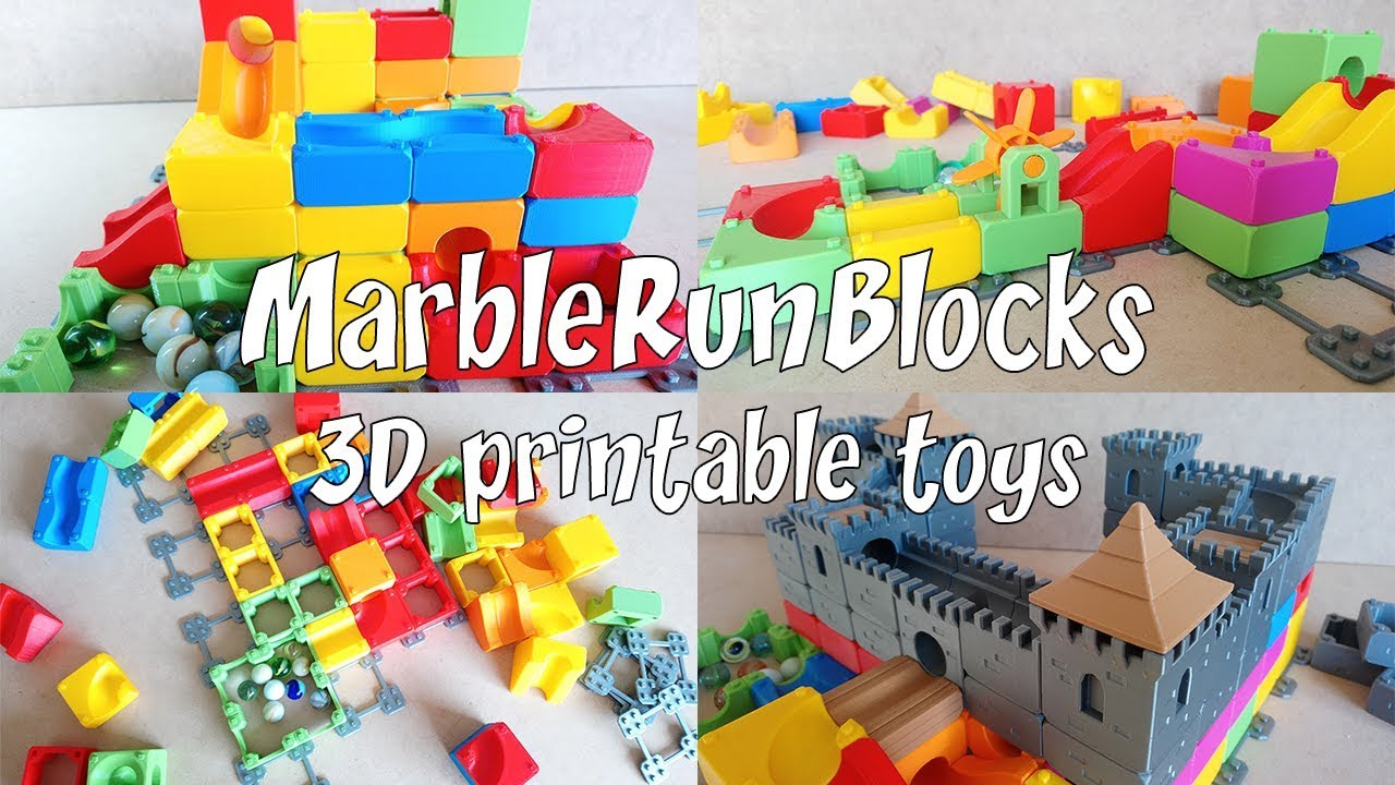 image relating to Printable Toys identify The Marble Operate Blocks - 3D printable toys