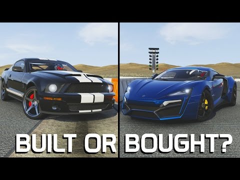Built or Bought? || Mustang GT500 VS Lykan Hypersport || Forza 6