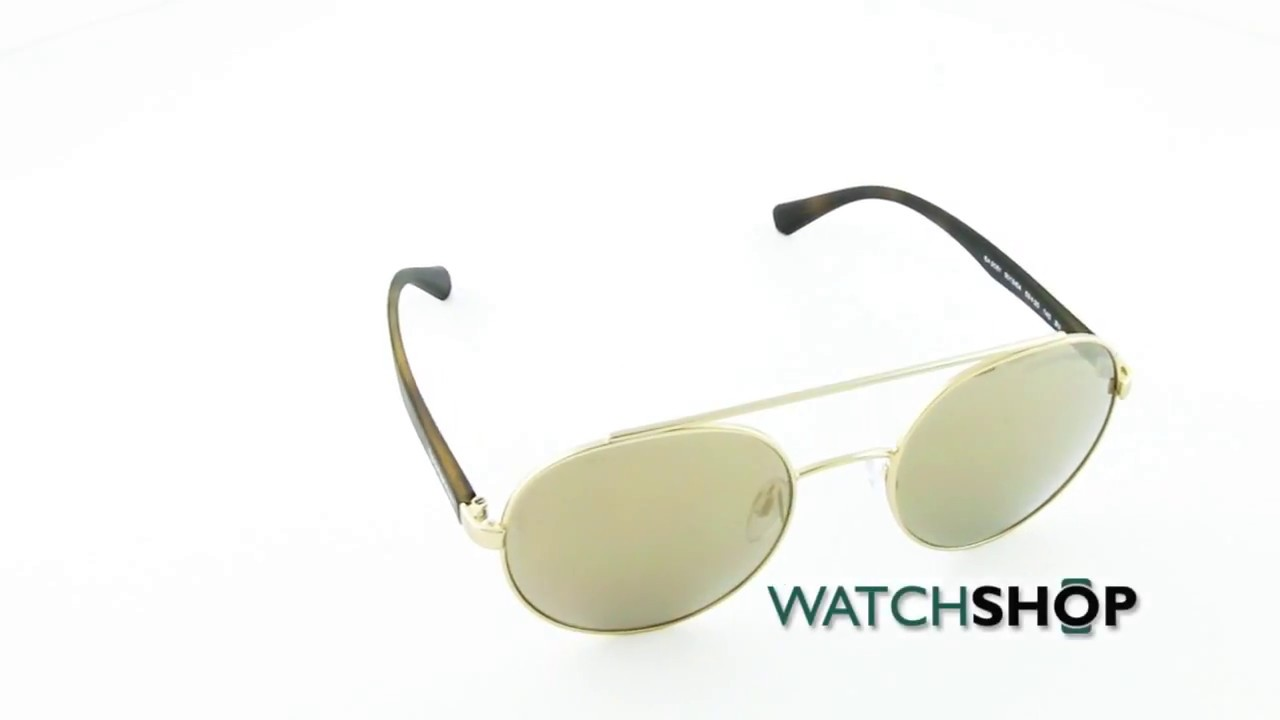 1320cf94fdd Emporio Armani Men s EA2051 Sunglasses (EA2051-30135A-53) - YouTube