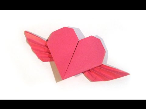 Valentine's Day Origami Flying Heart Origami - Easy - Valentine's Day gift
