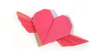Valentine's Day Origami Flying Heart Origami - Easy - Valentine's Day gift