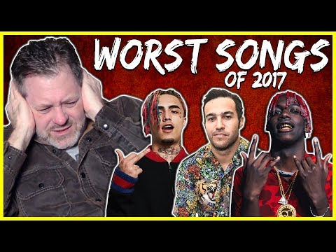 MY DAD REACTS TO THE WORST SONGS OF 2017