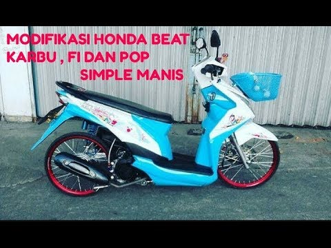 Modifikasi Honda Beat Keren Simple Manis Thailok Style Youtube