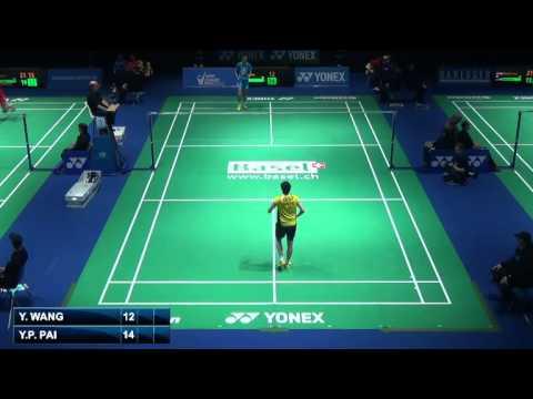 R16 - WS - Wang Yihan vs Pai Yu Po - 2014 Swiss Badminton Open