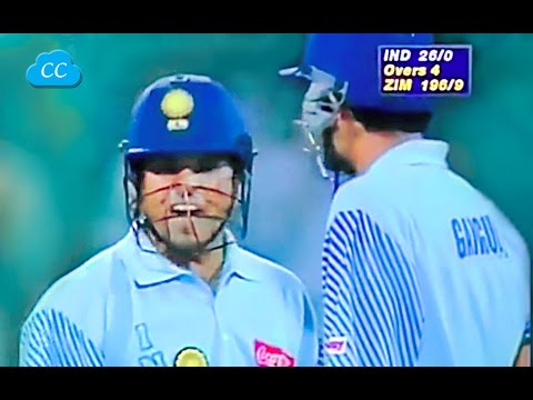 Sachin Super Angry on Henry Olonga Want to Smash Every ball  -  Never Seen Before