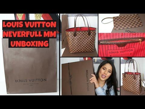 17dff30d7b7a Смотреть видео Louis Vuitton Neverfull MM Unboxing