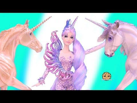 Unicorn Goddess ! New Pastel Rainbow  Barbie Doll - Cookie Swirl C Toy Video