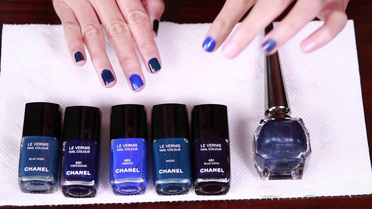 Chanel Blue Rhythm 2015 Vibrato & Fortissimo Nail Vernis ...